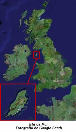 Isla de Man, foto de satélite