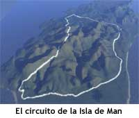 El circuito de carreras que recorre la isla de Man