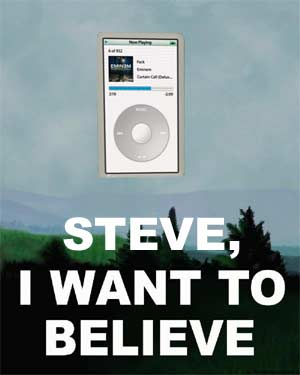 iPod video - I want to believe