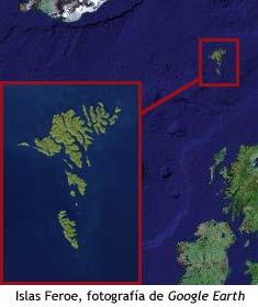 Islas Feroe - Foto de satelite