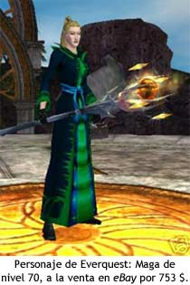 EverQuest - Maga de nivel 70 a la venta en eBay