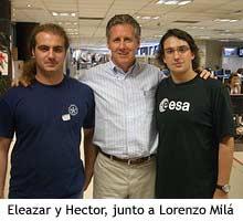 Eleazar y Héctor con Lorenzo Milá