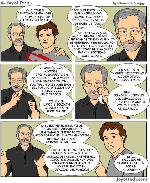 Spielberg y la película del clip rojo