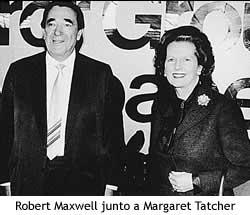 Maxwell junto a Margaret Tatcher