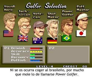 Neo Turf Masters - Jugadores