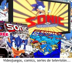 Sonic en comics y TV