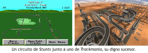 Stunts vs Trackmania