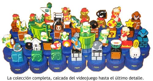 Super Mario Bros -  Figuritas de Pepsi