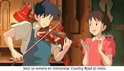 Mimi wo sumaseba - Seiji toca Country Road al violín