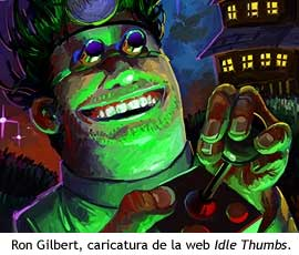 Ron Gilbert - Caricatura