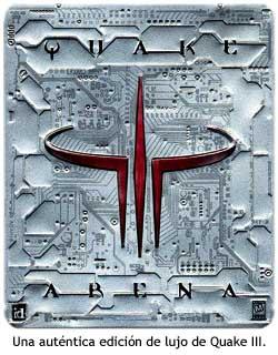 Caja metálica de le edición especial de Quake III