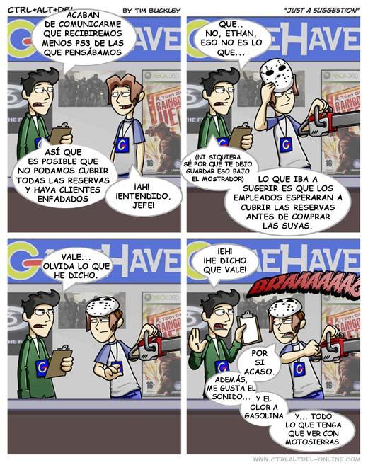 Comic - Problemas con las reservas de PS3