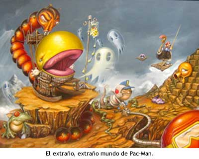 Pac-Man en un mundo extraño.