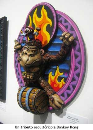 Escultura de Donkey Kong.
