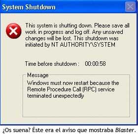 El virus Blaster