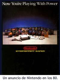 Anuncio de Nintendo en los 80