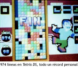 974 líneas en Tetris DS