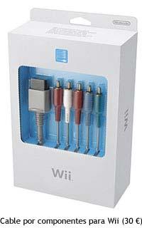 Cable por componentes para Wii