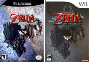 Zelda Twilight Princess, carátulas de GameCube y Wii