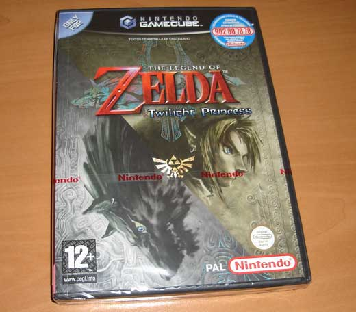 Caja de Zelda Twilight Princess para GameCube