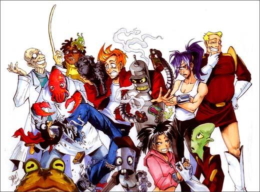 Futurama en versión Anime