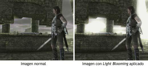 Demostración del efecto gráfico Light Blooming