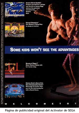 Publicidad original del Sega Activator