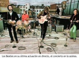 El concierto en la azotea de los Beatles