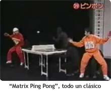 Matrix Ping Pong, un clásico
