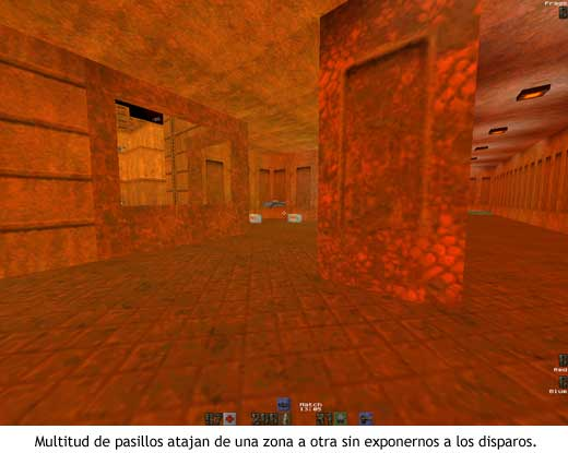 Quake II - The Edge (q2dm1) - Pasillos