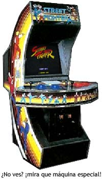 La máquina recreativa del primer Street Fighter,