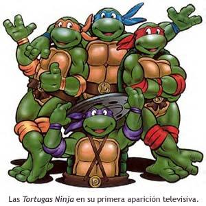 Las Tortugas Ninja en su primera serie de TV