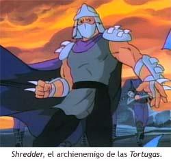 Shredder, el archienemigo de las Tortugas Ninja.