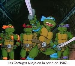Las Tortugas Ninja en la serie de 1987.