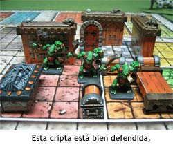 HeroQuest - Esta cripta está bien defendida por tres Fimir