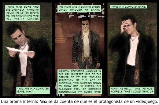Broma interna con el estilo cómic de Max Payne