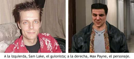 El guionista de Max Payne, Sam Lake, prestó su cara al personaje.