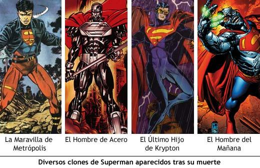 Clones de Superman aparecidos tras su muerte.