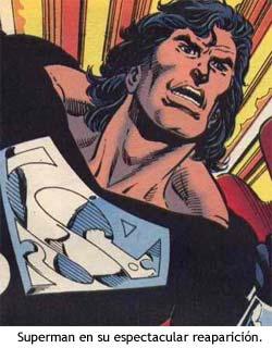 Superman reaparece tras su muerte.