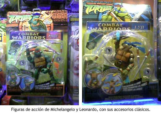 Muñecos de Michelangelo y Leonardo