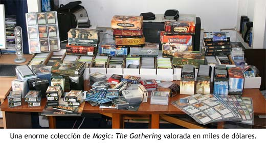 Valiosa colección de cartas Magic