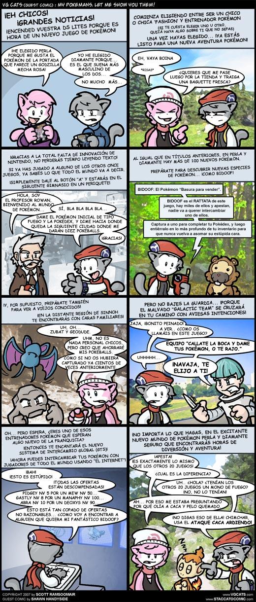 Comic VGCats - Pokemon Perla/Diamante