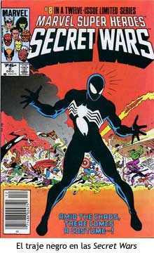 El traje negro de Spider-Man en las Secret Wars