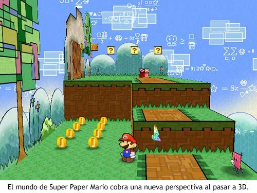 Un cambio de perspectiva en Super Paper Mario revela nuevos detalles