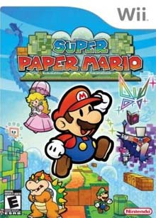 Carátula de Super Paper Mario