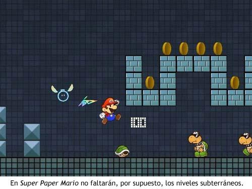 En Super Paper Mario no faltarán los niveles subterráneos.