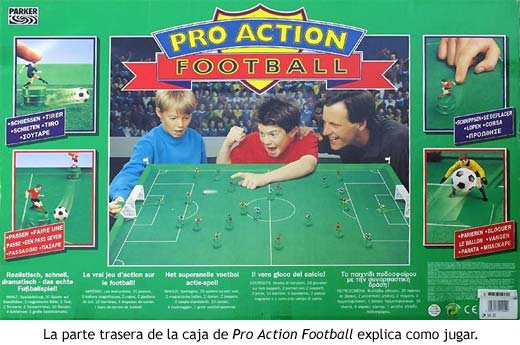 Pro Action Football - Reverso de la caja con instrucciones