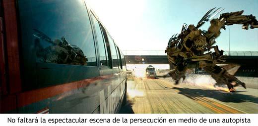 Transformers - Persecución en la autopista