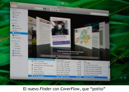 WWDC 07 - Finder con CoverFlow