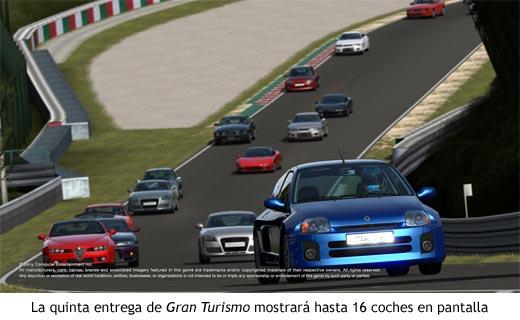 GT5 mostrará hasta 16 coches en pantalla